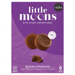 Little Moons 192g Soft Mochi & Vegan Ice Cream Belgian Chocolate