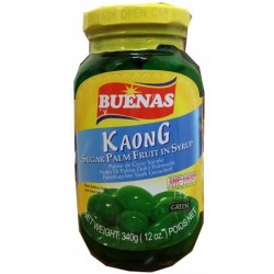 Buenas 340g Kaong Green Candied Fruit in Syrup