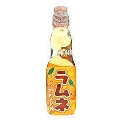 Hatakosen Ramune 200ml Orange Soda Flavour