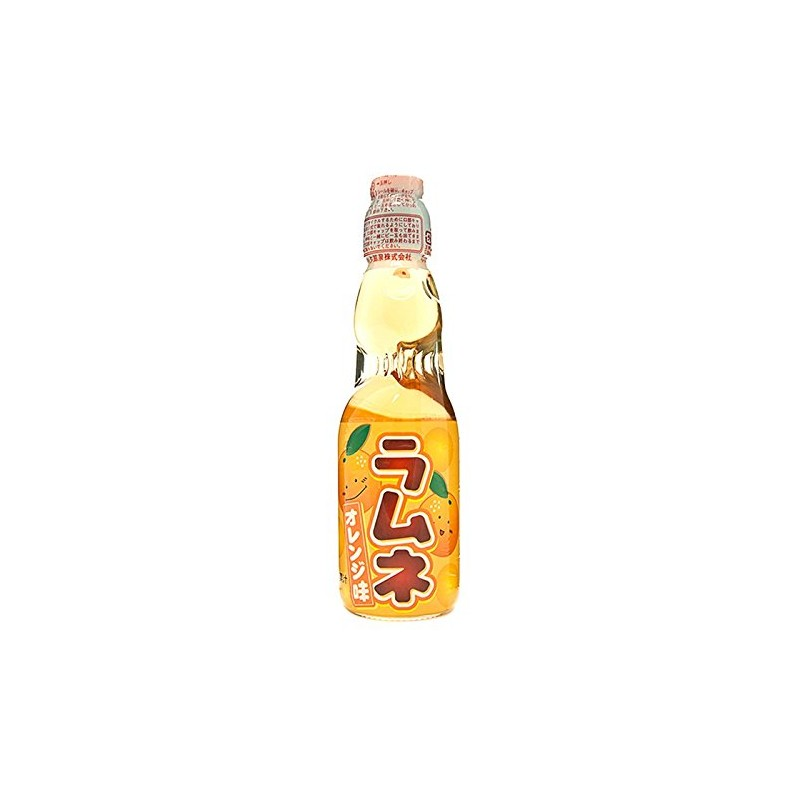 Hatakosen Ramune 200ml Orange Soda Flavour