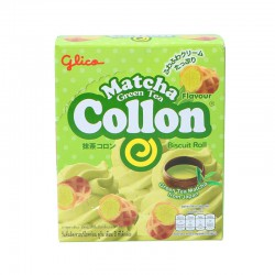 Glico Biscuit Roll 46g Matcha Green Tea Flavour
