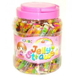 ABC Jelly Straws 1kg Mixed...