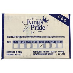 King's Pride 6x900g 26/30 Raw Peeled Deveined Tail off...