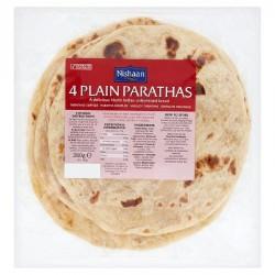 Nishaan Plain Parathas 4 Pack 380g North Indian Bread