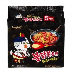 Samyang Buldok Hot Chicken Noodles 5x140g Stir Fried Spicy Ramen Noodle