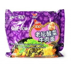 Unif 100 Noodles - Instant Noodles (统一100老坛酸菜牛肉面) Chinese...