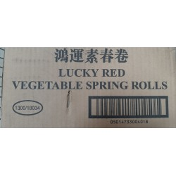 Lucky Red Vegetable Spring Roll Case of 10 boxes of...