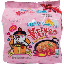 Samyang Carbo Hot Chicken Noodles 5x130g Ramen Mala Buldak instant Korean Noodles TEST