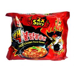 Samyang 2x Spicy Hot Chicken Flavour 140g ramen stir noodle challenge Korean Ramen Noodles