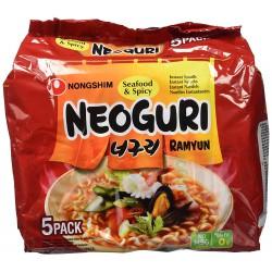 Nongshim Noodles 5x120g Seafood & Spicy Neoguri (너구리매운맛)...