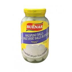 Buenas 340g Macapuno Balls Coconut Sport Balls in Syrup