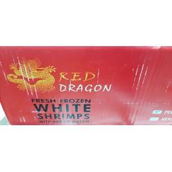 Red Dragon Case of Fresh Frozen White Shrimps 6x900g...