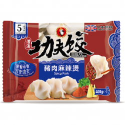 Kung Fu Food Spicy Pork Dumplings 400g 功夫水餃-豬肉麻辣燙 Spicy...
