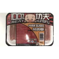 Kung Fu Food Frozen Pork Slices 400g Pork Rolls for Hot Pot