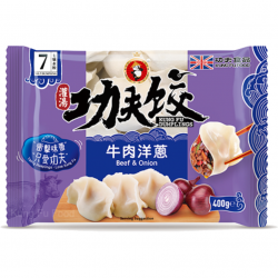 Kung Fu Food Beef and Onion Dumplings 400g 夫水餃-牛肉洋蔥...