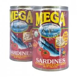 Mega Sardines 155g in Tomato Sauce with Chili 2pck