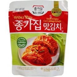 Chongga Mat Kimchi 500g (종가집 - 맛김치) Cut Cabbage Fresh Kimchi