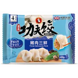 Kung Fu Food Dumplings Three Delicacies Pork, Shitake...