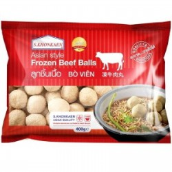 S. Khonkaen Frozen Beef Balls 400g Frozen Beef Balls