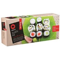 Obento Sushi Kit with Bamboo Mat 6pce Starter Kit makes 6 Sushi Rolls