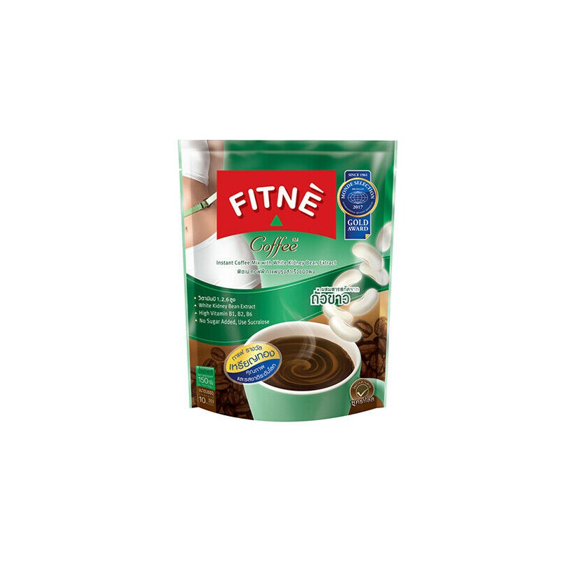 Fitne Instant Coffee 150g Instant Coffee With White Kidney Bean Extract 10 Sticks