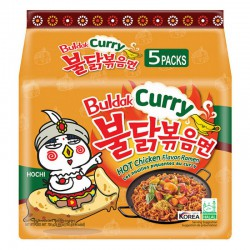 Samyang Curry Hot Chicken Stir Ramen Noodle Soup Pack of 5x140g Korean Curry Ramen Noodles New Packaging