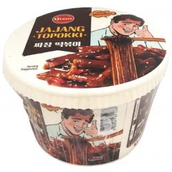 O'taste Jajang Topokki Tteokbokki Rabokki Bowl 128g Instant Korean Rice Cakes and Noodles