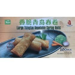 Fresh Asia Foods Large Tsingtao Vegetable Spring Rolls 10x50g Frozen Tsingtao Vegetable Spring Rolls