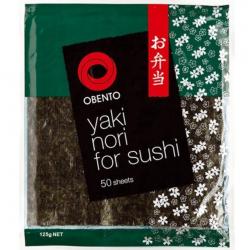 Obento Yaki Nori (Seaweed Sheet) for Sushi 10x50 Sheets...