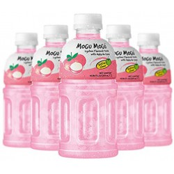 Mogu Mogu Case of Lychee 320ml x 24 Lychee flavour drink...