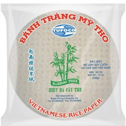 BAMBOO TREE VIETNAMESE RICE PAPER 16CM 340G ROUND RICE PAPERS