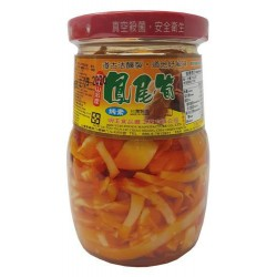 Six Fortune Bamboo Shoots in Chilli Oil 375g 六福辣油香筍