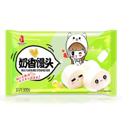 Fresh Asia Foods Chinese Milk Buns 300g 思念奶香饅頭 12pcs...