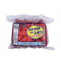 Mandheys Tender and Juicy Regular Hotdogs 500g Regular Hotdogs