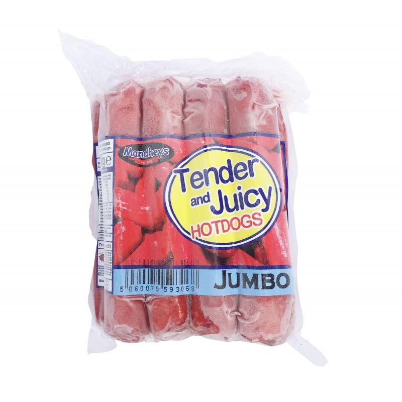 Mandheys Tender and Juicy Jumbo Hotdogs 750g Jumbo Hotdogs
