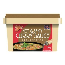 Goldfish Brand Hot & Spicy Curry Sauce 6x405g Concentrate (New Cream Tub)