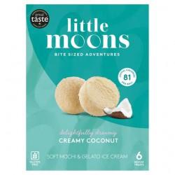 Little Moons Creamy Coconut Soft Mochi & Gelato Ice Cream 192g Gluten Free Creamy Coconut Soft Mochi & Gelato Ice Cream