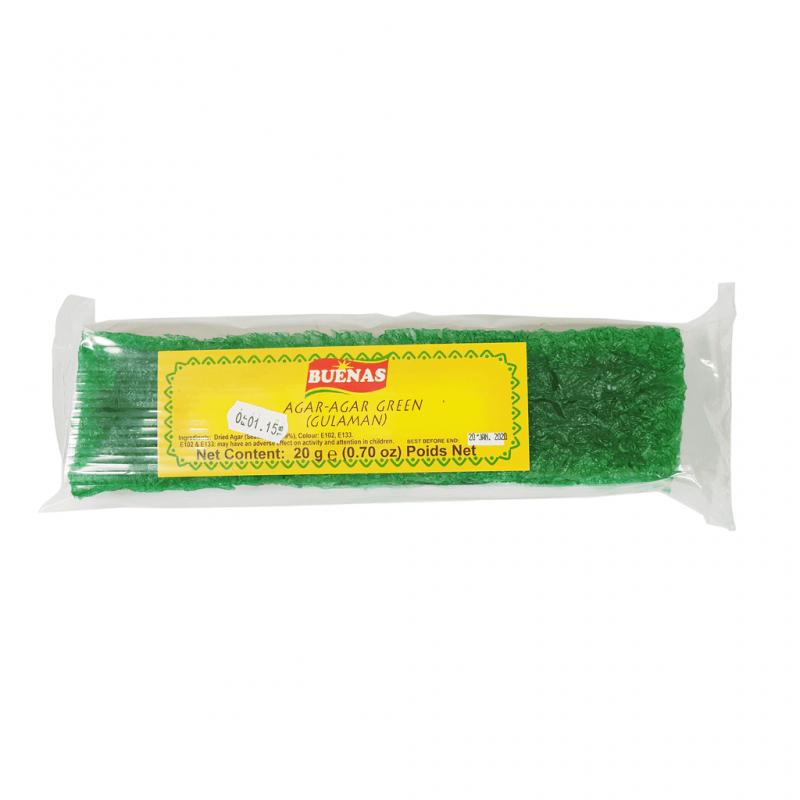 Buenas Agar-Agar Green (Gulaman) 20g Agar-Agar Green