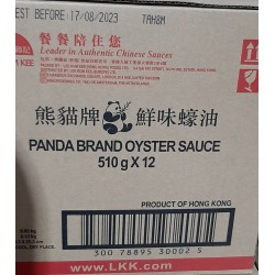 Full Case of 12x Lee Kum Kee Panda Brand 510g Oyster Sauce