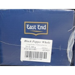 Full Case: East End Black Pepper Whole 20x100g Black Pepper Whole