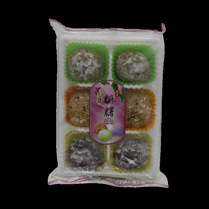 Loves Flower Rice Cake Mixed Mochi (Taro, Matcha and Sesame) 210g Rice Cake Mixed Mochi (Taro, Matcha and Sesame)