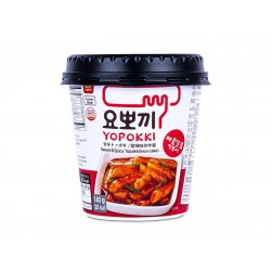 Yopokki Instant Cup Rice Cakes (요뽀끼컵) 140g Sweet and Spicy Topokki Rice Cake