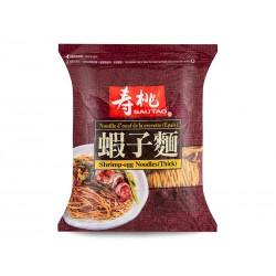 Sau Tao Shirmp Egg Noodle (壽桃牌 蝦子粗麵) 454g Thick Shrimp Egg Noodles