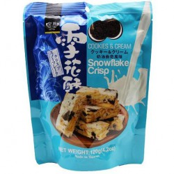 Royal Family Cookies & Cream Snowflake Crisp 120g Cookies & Cream Snowflake Crisp
