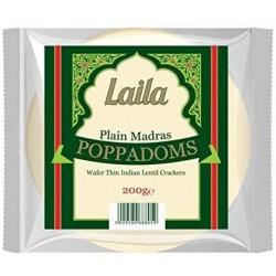 Laila Plain Madras Poppadoms 200g Plain Madras Poppadoms
