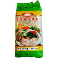 Full Case of 30x 400g Longdan Rice Vermicelli 0.8mm Bun Kho Vietnamese Rice Vermicelli