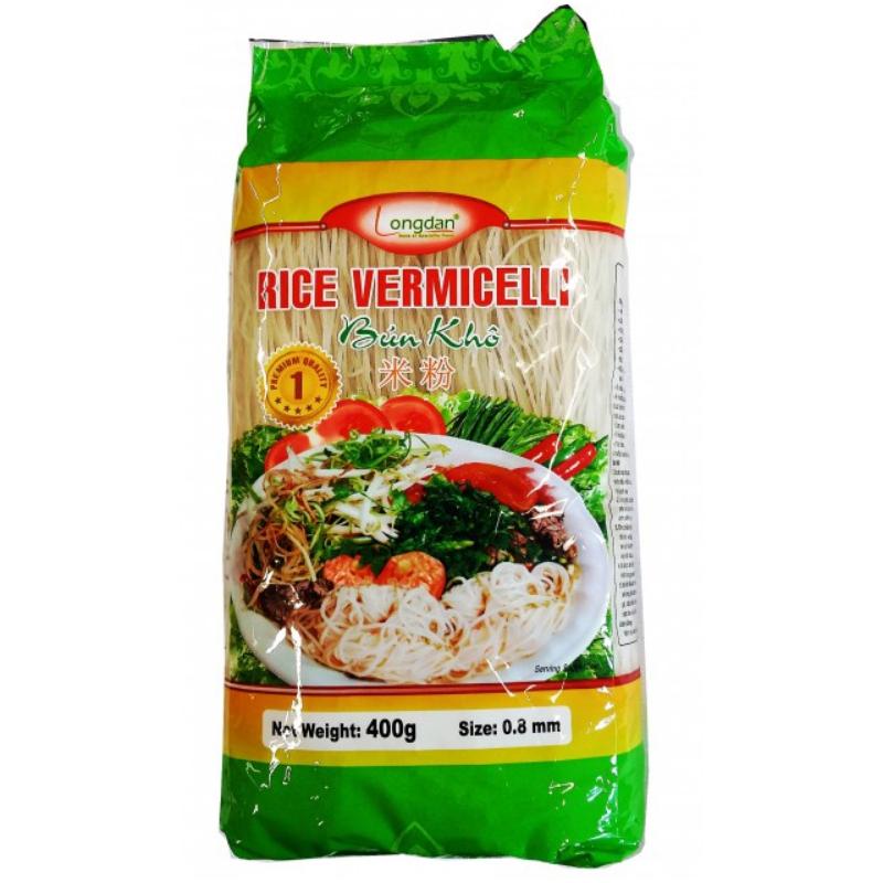 Full Case of 30x 400g Longdan Rice Vermicelli 0.8mm Bun Kho Vietnamese Rice Vermicelli