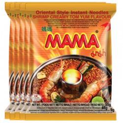 Mama Noodles Shrimp Creamy Tom Yum Flavour 55g Thai Instant Noodles