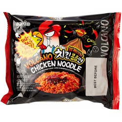 Full Case of 4x Paldo Volcano Chicken Noodle 140g x 4 Beef & Chicken Flavour Korean Noodles