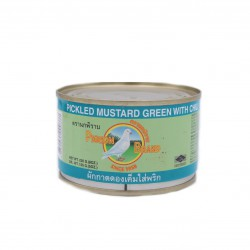 Pigeon Brand Pickled Mustard Green With Chilli In Soy Sauce 230g